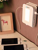 brelong 2usb 4us зарядное устройство для подключения зарядного устройства зарядное устройство 2.1a (dc5v) 110-140v теплый белый us