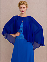 Women's Wrap Capes Chiffon Wedding Party/ Evening Buttons