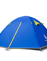 3-4 человека Световой тент Двойная Палатка Однокомнатная Туристические палатки Альпинизм для Пляж Походы / туризм / спелеология