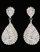Women's Drop Earrings Rhinestone AAA Cubic Zirconia Fashion Elegant Rhinestone Drop Jewelry For Wedding Party