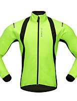 WOSAWE Cycling Jersey Unisex Long Sleeves Bike Jersey Top Windproof Polyester Fleece Classic Autumn/Fall Winter Mountain Cycling Road