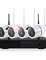 yanse® 4ch sans fil kits nvr 720p étanche ir nuit vision sécurité wifi ip caméra 36leds surveillance système de vidéosurveillance maison