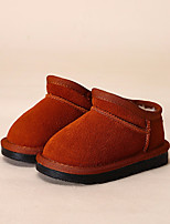 Girls' Shoes Cowhide Winter Comfort Loafers & Slip-Ons For Casual Camel Red Purple Gray Black