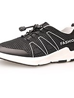 Men's Shoes Tulle Fall Winter Comfort Sneakers Lace-up For Casual Outdoor Gray Black