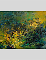 Hand-Painted Abstract Horizontal Panoramic,Abstract One Panel Canvas Oil Painting For Home Decoration