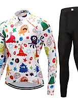 Cycling Jersey with Tights Unisex Long Sleeves Bike Clothing Suits Fast Dry 100% Polyester LYCRA® Cartoon Animal Autumn/Fall Cycling/Bike