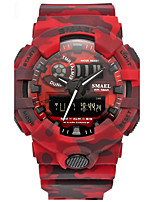 Per uomo Orologio sportivo Cinese Digitale Calendario Cronografo Resistente all'acqua allarme Cronometro PU Banda Rosso Grigio Kaki