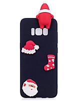 Coque Pour Samsung Galaxy S8 Plus S8 Dépoli Motif A Faire Soi-Même Coque Arrière Dessin Animé 3D Noël Flexible TPU pour S8 S8 Plus S7