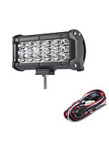 54W 5400LM 6000K 3-Rows LED Work Light Cool White Spot Offroad Driving Light for Car/Boat/Headlight IP68 9-32V  2m 1-To-1 Wiring Harness Kit