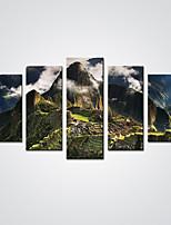 Impression sur Toile Cinq Panneaux Toile Format Horizontal Imprimé Décoration murale For Décoration d'intérieur