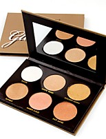 6 Powder Concealer/Contour Highlighters/Bronzers Pressed Powder Shimmer Mineral Pressed powder Whitening Long Lasting Natural Waterproof