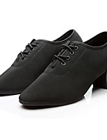 Women's Modern Oxford Full Sole Sneaker Outdoor Chunky Heel Red Black 2 - 2 3/4 Customizable