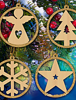 Ornaments Wood Christmas Holiday Home Decoration Christmas PartyForHoliday Decorations