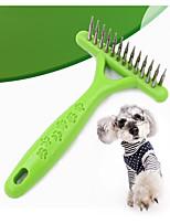 Кошка Собака Уход Расчески Компактность Зеленый