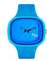 Women's Fashion Watch Quartz Silicone Band Blue Green Pink Purple Yellow