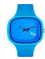 Mulheres Relógio de Moda Quartzo Silicone Banda Azul Verde Rosa Roxa Amarelo