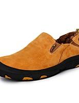 Для мужчин обувь Свиная кожа Весна Осень Удобная обувь Мокасины и Свитер Назначение Повседневные Серый Желтый Кофейный Хаки