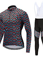 Cycling Jersey with Bib Tights Unisex Long Sleeves Bike Clothing Suits Quick Dry Fashion Autumn/Fall Spring Cycling/Bike White Black