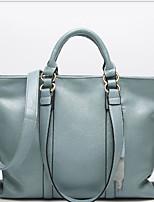 Women Bags All Seasons PU Tote Zipper for Dark Grey Brown Black