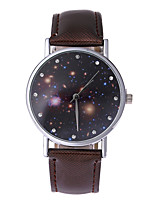 Women's Fashion Watch Casual Watch Quartz Leather Band Casual Black White Red Brown Purple