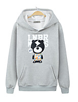 Men's Casual/Daily Hoodie Print Hooded Micro-elastic Cotton Long Sleeve Spring Fall