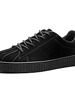 Men's Shoes Cashmere Spring Fall Comfort Sneakers Lace-up For Casual Black Brown