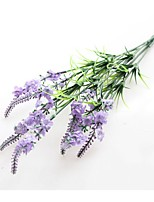 2 Branch Polyester Lavender Tabletop Flower Artificial Flowers
