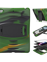 For Case Cover Shockproof with Stand Full Body Case Solid Color Camouflage Color Hard Silicone for Apple iPad pro 10.5 iPad (2017) iPad