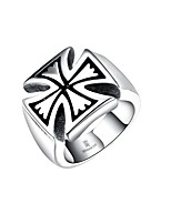 Men's Knuckle Ring Jewelry Punk Personalized Stainless Steel Alloy Cross Geometric Jewelry For Halloween Street