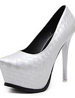 Для женщин Обувь Дерматин Весна Осень Оригинальная обувь Обувь на каблуках На шпильке Заостренный носок С плетеными ремешками Назначение