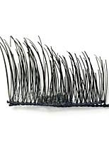 Ресницы Ресницы Ленточные накладные ресницы Натуральная длина Натуральный Волокно Black Band