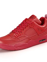 Women's Shoes PU Winter Comfort Sneakers Running Shoes Round Toe Lace-up For Casual Outdoor Red Black White