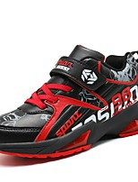 Boys' Shoes PU Fall Winter Comfort Athletic Shoes Basketball Shoes For Athletic Outdoor Black/Red Blue Orange