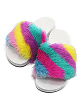 Women's Shoes Fleece Spring Fall Comfort Slippers & Flip-Flops For Casual White