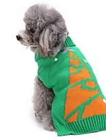 Dog Sweater Dog Clothes Christmas Christmas Christmas Green Costume For Pets