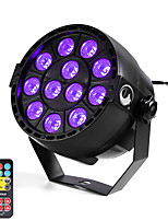 U'King ZQ-B187B#YK 12W 12 LEDs Purple Color DMX Sound Activated Par Stage Lighting with 1 Remote Control for Disco Party Club KTV Wedding