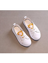 Girls' Shoes Cowhide Fall Winter Comfort Sneakers For Casual Red Yellow Black
