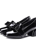 Women's Shoes PU Spring Comfort Heels For Casual Black Wine