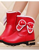 Fille Chaussures Similicuir Polyuréthane Hiver Bottes à la Mode Bottes Bottine/Demi Botte Pour Décontracté Noir Rouge Rose