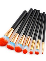 7 pcs Contour Brush Makeup Brush Set Blush Brush Eyeshadow Brush Brow Brush Concealer Brush Powder Brush Foundation Brush Pony Synthetic