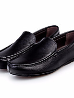 Men's Shoes PU Fall Comfort Loafers & Slip-Ons For Casual Black
