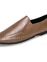 Men's Shoes Nappa Leather Spring Fall Moccasin Loafers & Slip-Ons For Outdoor Yellow Gray Black