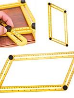 Instrumento de medición de la herramienta de la plantilla ángulo-izer Diapositiva de mecanismo de la regla de cuatro lados para ingenieros