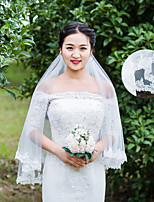 One-tier Wedding Veil Elbow Veils With Applique Lace Wedding Accessories