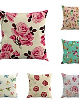 Set Of 6 Florals Birds Butterfly Printing Classic Creative Sofa Pillow Case 45*45Cm