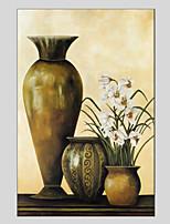 Ручная роспись Цветочные мотивы/ботанический Цветы 1 панель Холст Hang-роспись маслом For Украшение дома