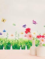 Animaux A fleurs/Botanique Mode Stickers muraux Autocollants muraux 3D Autocollants muraux décoratifs,Vinyle Matériel Décoration