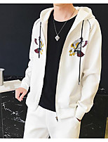 Men's Daily Hoodie Print Hooded Micro-elastic Polyester Long Sleeve Fall