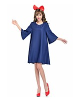 Princesse Déesse Une Pièce Robes Cosplay de Film Bleu Robes Coiffure Halloween Carnaval Fête d'Octobre Polyester