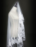 Two-tier Wedding Veil Cathedral Veils With Applique Sequin Lace Tulle